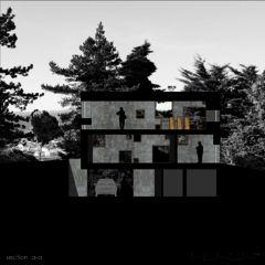 Schnitt A-A Neubau Betonhaus in Füllinsdorf von Studio d'architettura wdmra<br/>
