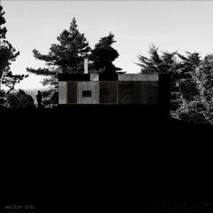 Schnitt B-B Neubau Betonhaus in Füllinsdorf von Studio d'architettura wdmra<br/>