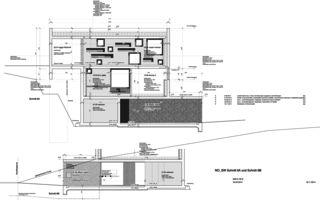 Detailschnitt 2 Neubau Betonhaus in Füllinsdorf von Studio d'architettura wdmra<br/>