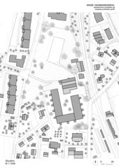 Situation Wohnüberbauung Hagmannareal, Winterthur von ARGE HAGMANNAREAL weberbrunner architekten ag / soppelsa architekten gmbh