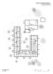 Plan  rez-de-chaussée Wohnüberbauung Hagmann-Areal, Winterthur de ARGE HAGMANNAREAL weberbrunner architekten ag / soppelsa architekten gmbh
