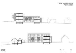 Coupes Wohnüberbauung Hagmannareal, Winterthur de ARGE HAGMANNAREAL weberbrunner architekten ag / soppelsa architekten gmbh