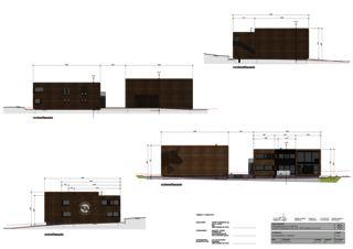 Fassadenplan Betriebsgebäude Trauffer Holzspielwaren von wegmüller und briggen architektur ag