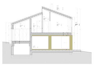Querschnitt Detail M 1:20 Zwischen Himmel und Erde, Neubau EFH von Blaser Architekten AG