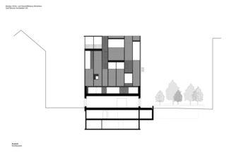 Rudolfstrasse_Nordfassade Neubau Büro- und Wohngebäude Winterthur von Graf Biscioni Architekten AG