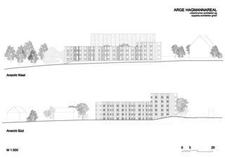 Elevations Wohnüberbauung Hagmann-Areal, Winterthur de ARGE HAGMANNAREAL weberbrunner architekten ag / soppelsa architekten gmbh