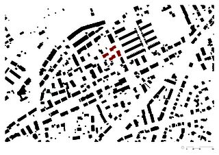 Schwarzplan 1:2000 Wohnüberbauung im Rebgarten von Morger Partner Architekten AG