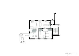 Wohnungstyp EG 1:100 Wohnüberbauung im Rebgarten von Morger Partner Architekten AG