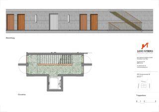 Grundriss Detail Ersatzneubau MFH Sumatrastrasse von Juho Nyberg Architektur GmbH