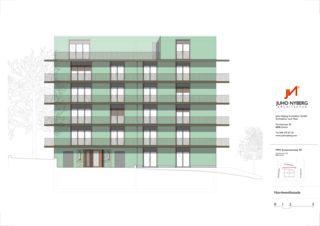 Fassade Nordwest Ersatzneubau MFH Sumatrastrasse von Juho Nyberg Architektur GmbH