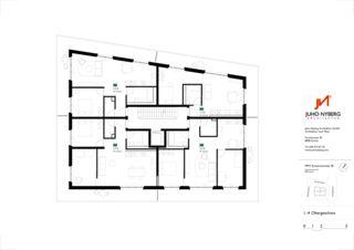 Grundriss 1.-4. Obergeschoss Ersatzneubau MFH Sumatrastrasse von Juho Nyberg Architektur GmbH