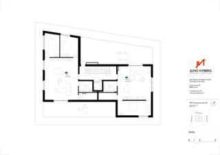 Grundriss Attika Ersatzneubau MFH Sumatrastrasse von Juho Nyberg Architektur GmbH