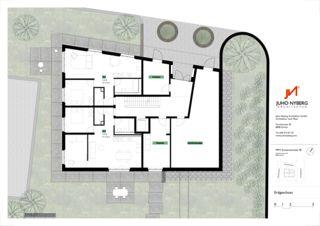 Grundriss Erdgeschoss Ersatzneubau MFH Sumatrastrasse von Juho Nyberg Architektur GmbH