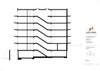 Schnitt Ersatzneubau MFH Sumatrastrasse von Juho Nyberg Architektur GmbH