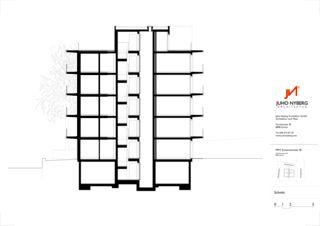 Querschnitt Ersatzneubau MFH Sumatrastrasse von Juho Nyberg Architektur GmbH
