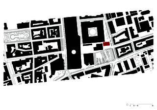 Schwarzplan Wohn- und Geschäftsüberbauung Rosentalstrasse von Morger Partner Architekten AG