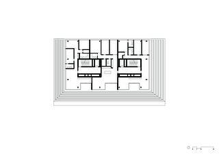 Grundriss 12. Obergeschoss Wohn- und Geschäftsüberbauung Rosentalstrasse von Morger Partner Architekten AG