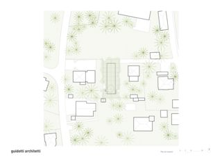 Situationsplan Casa Toti Truniger von Studio d' Architettura<br/>