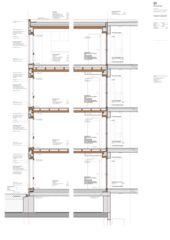 Fassadenschnitt Mehrfamilienhaus Adlikon von Felix Partner Architektur AG
