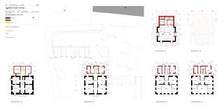 Projektpläne Grundrisse mit Abbruch/Neu Sonnwendhof von Architektur & Baumanagement AG