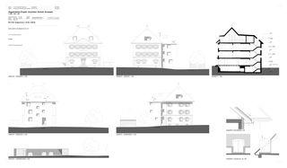 Projektpläne Fassaden/Schnitt Sonnwendhof von Architektur & Baumanagement AG