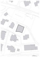 Schwarzplan Wohnhaus Rapperswil von misa:mi ARCHITEKTEN GmbH ETH SIA