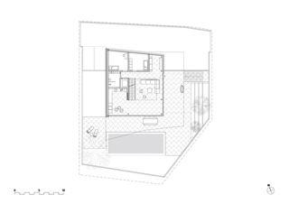 Grundriss Erdgeschoss Wohnhaus Rapperswil von misa:mi ARCHITEKTEN GmbH ETH SIA