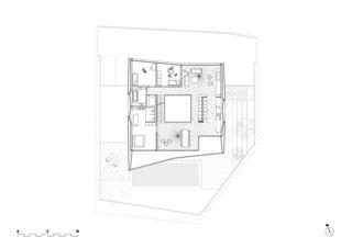 Grundriss Obergeschoss Wohnhaus Rapperswil von misa:mi ARCHITEKTEN GmbH ETH SIA