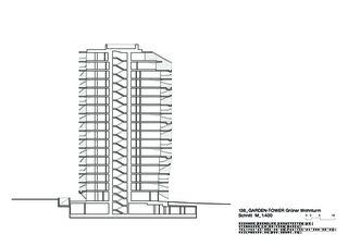 Schnitt Garden Tower von Buchner Bründler Architekten BSA SIA