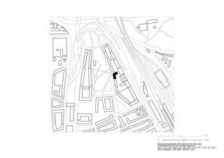 Situationsplan Genossenschaftshaus Stadterle von Buchner Bründler Architekten BSA SIA