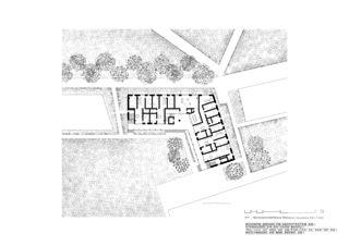 Plan rez-de-chaussée Genossenschaftshaus Stadterle de Buchner Bründler Architekten BSA SIA