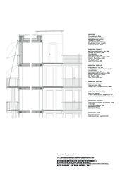 Fassadenschnitt Genossenschaftshaus Stadterle von Buchner Bründler Architekten BSA SIA