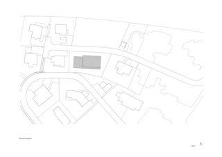 Situationsplan Zweifamilienhaus Scherrer von UNIT Architekten