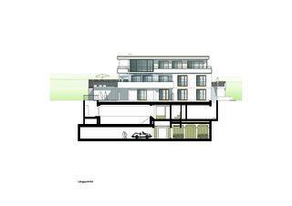 Längsschnitt Villa Rebstockhalde, Luzern von Unit Architekten AG