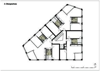 edensieben_niveau 2 Neubau Mehrfamilienhaus edensieben, Zürich  de Philipp Wieting - Werknetz Architektur