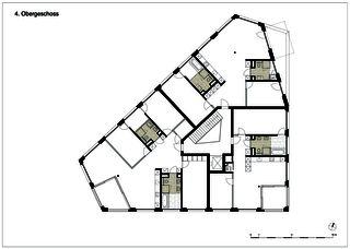 edensieben_niveau 4 Neubau Mehrfamilienhaus edensieben, Zürich  de Philipp Wieting - Werknetz Architektur