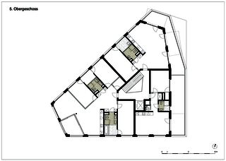 edensieben_niveau 5 Neubau Mehrfamilienhaus edensieben, Zürich  de Philipp Wieting - Werknetz Architektur