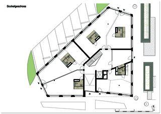 edensieben_rez-de-chaussée Neubau Mehrfamilienhaus edensieben, Zürich  de Philipp Wieting - Werknetz Architektur