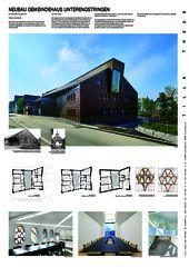 Plakat A0 Gemeindehaus Unterengstringen von Tilla Theus und Partner AG
