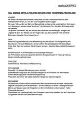 description NULL- ENERGIE- SCHLOSS: STEIN, TRANSPARENZ, TECHNOLOGIE de deltaZERO sa