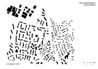 Schwarzplan Wohnüberbauung Hagmannareal, Winterthur von ARGE HAGMANNAREAL weberbrunner architekten ag / soppelsa architekten gmbh