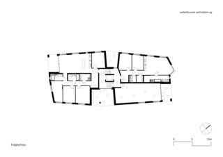 Erdgeschoss MFH Schönheim, Affoltern am Albis von weberbrunner architekten ag