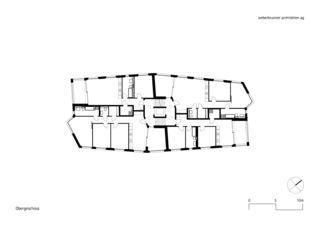 Obergeschoss MFH Schönheim, Affoltern am Albis von weberbrunner architekten ag