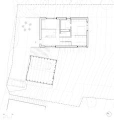 Grundriss Eingangsgeschoss Neubau EFH Arbaz, VS von Scheibler Villard