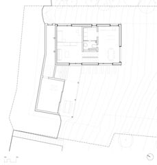 Grundriss Erdgeschoss Neubau EFH Arbaz, VS von Scheibler Villard