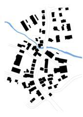 Situation Flecken Rothenburg Gehöft zur Gerbe Rothenburg, Umbau und Sanierung denkmalgeschütztes Wohngebäude und Wiederaufbau Schopf von Aeberli Vega Zanghi, vertreten durch Diego Zanghi Architects