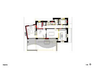 Rez-de-chaussée Einfamilienhaus Waldrietstrasse de Marazzi + Paul Architekten AG