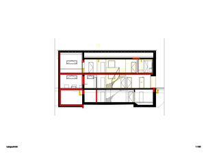 Coupe longitudinale Einfamilienhaus Waldrietstrasse de Marazzi + Paul Architekten AG