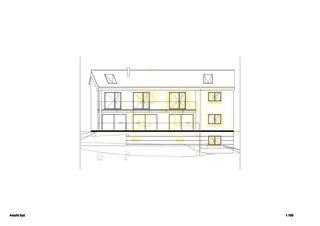 Vue sud Einfamilienhaus Waldrietstrasse de Marazzi + Paul Architekten AG