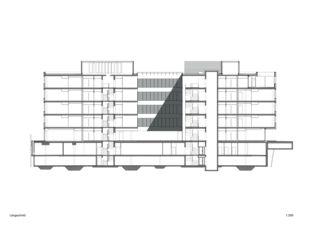 Längsschnitt 3M Headquarter EMEA von Marazzi + Paul Architekten AG